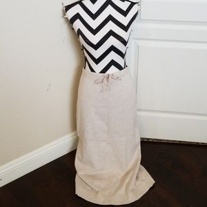 SALE! Long Oatmeal stretch skirt
